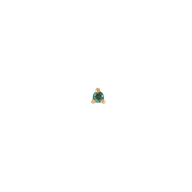 EC One Metier Single Gold Petite Emerald Stud Earring