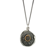 Silver Pendant with Gold 'Knowledge' Symbol