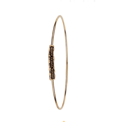 'Omnia Vincit Amor' 14ct Gold Bangle
