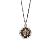 Silver Pendant with Gold 'Direction' Symbol