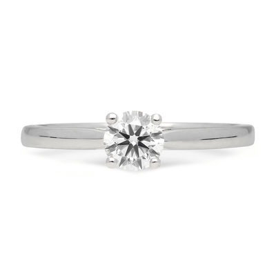 Mae Round Diamond Solitaire Recycled Platinum