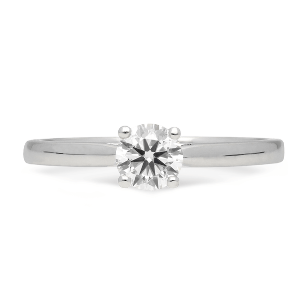 'Mae' Round Diamond Solitaire Recycled Platinum
