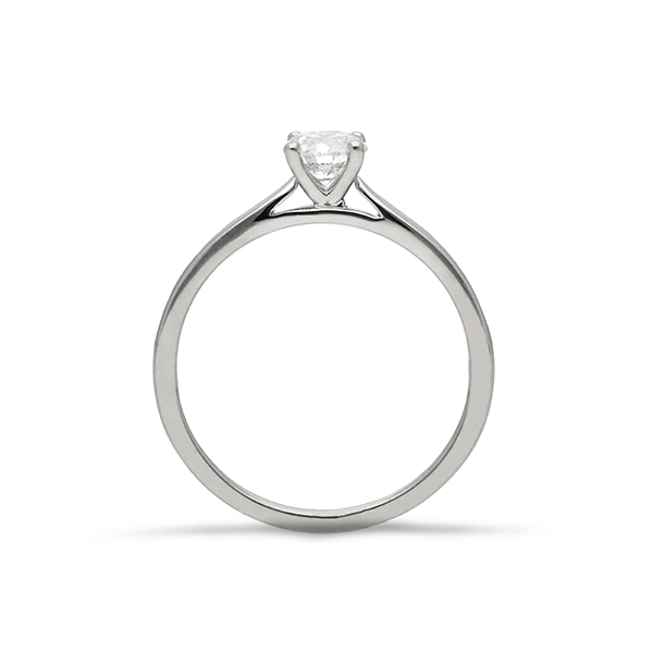 EC One 'Mae' Round Brilliant Diamond Solitaire Recycled Platinum