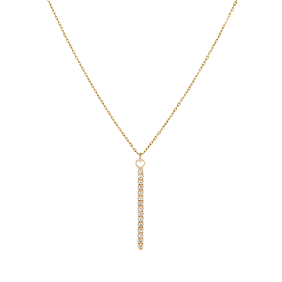 EC One Metier necklace Long gold diamond bar
