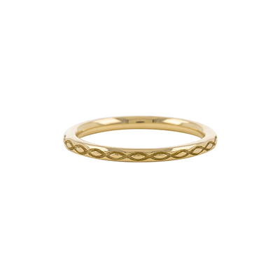 Dala 5 Gold Textured Stacking Ring