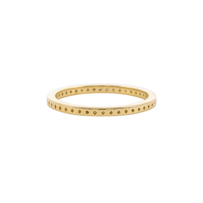 Dala 10 Gold Textured Stacking Ring