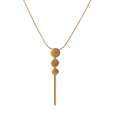 Paillette Triple Disc Pendant Gold Plated