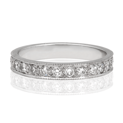 "Wide ""Emma"" Diamond White Gold Eternity Ring"