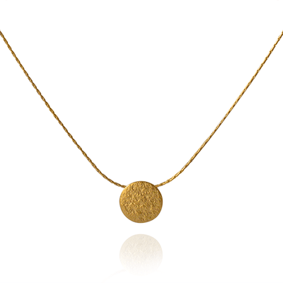 Paillette Tiny Disc Pendant Gold Plated