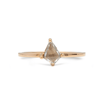 ELLIE AIR x EC ONE - Comet Grey Kite diamond Engagement Ring Rose Gold