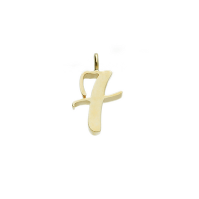 "EC One recycled Gold Number ""7"" charm pendant lucky 7"