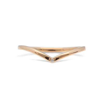 ELLIE AIR x EC ONE - Comet Stacker Ring Rose Gold