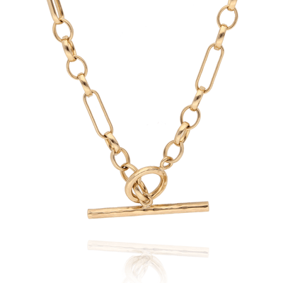 EC One 9ct Yellow Gold T-Bar Necklace