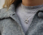 Alex Monroe for EC One LIMITED EDITION: Winter Woodland Robin & Ivy Loop Necklace Silver