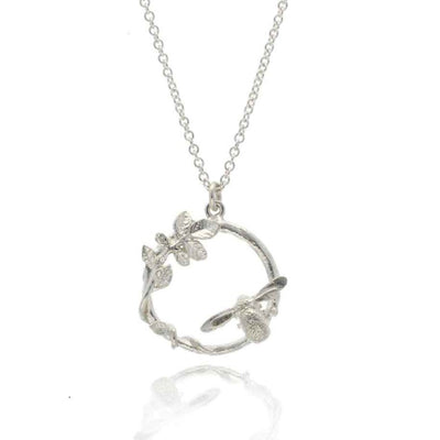 Alex Monroe for EC One LIMITED EDITION: Spring Garden Bee Loop Necklace Silver