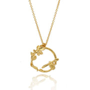 Alex Monroe for EC One LIMITED EDITION: Spring Garden Bee Loop Necklace Gold Plated