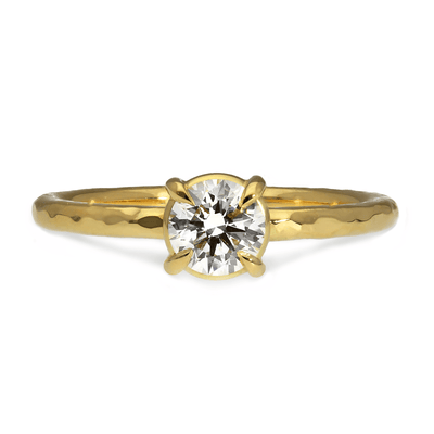 Alice ethical diamond engagement ring by EC One London recycled yellow gold