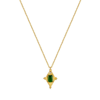EC One Zoe & Morgan Anastasia Gold Plated Necklace