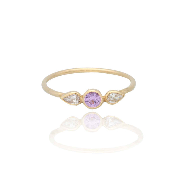 EC One Cece Jewellery Alra recycled gold sapphire diamond ring