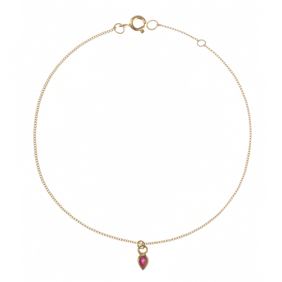EC One Metier Gold Bracelet with Pear Shaped Ruby