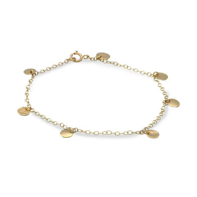 "EC One ""Baby Beat"" 9ct Gold Multi Mini Disc Bracelet"