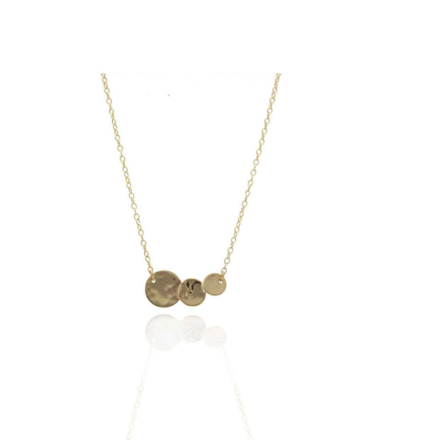 "EC One ""Baby Beat"" 9ct Gold Triple Disc Necklace"