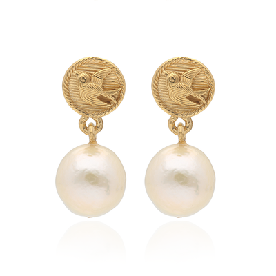 Swallow Pearl Earrings
