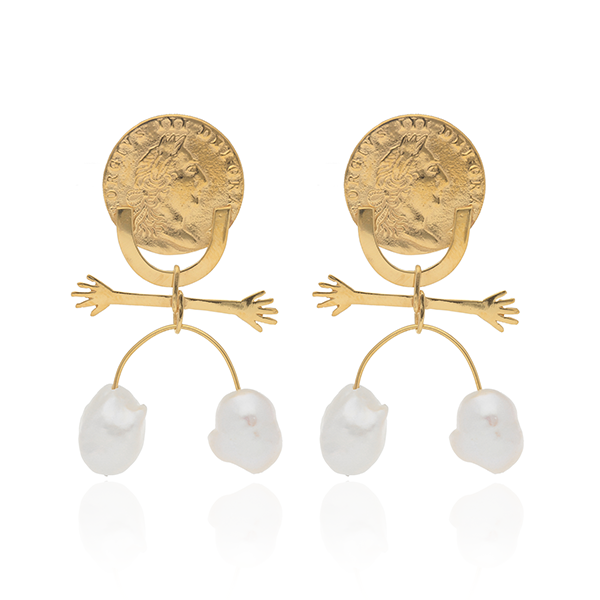 Bijou Pearly People Earrings