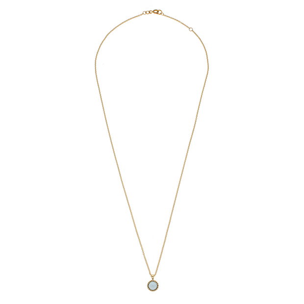 EC One Blue Topaz 'Garden' Necklace recycled yellow gold