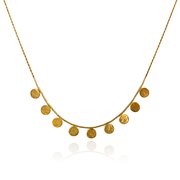 EC One Cara Tonkin Short Paillette Gold Plated Necklace