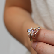EC One Cece Sweetie Gold Ring with Pastel Sapphires