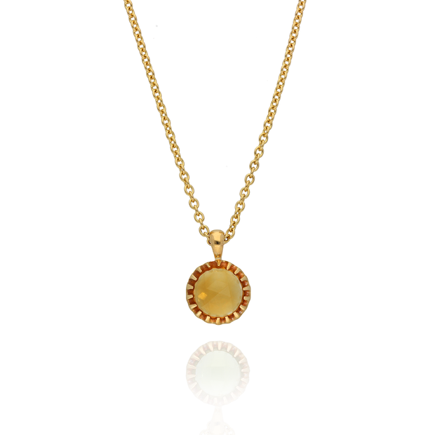 Citrine 'Garden' Necklace Recycled Gold