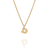 "Mini Letter ""D""  Initial Gold Necklace"