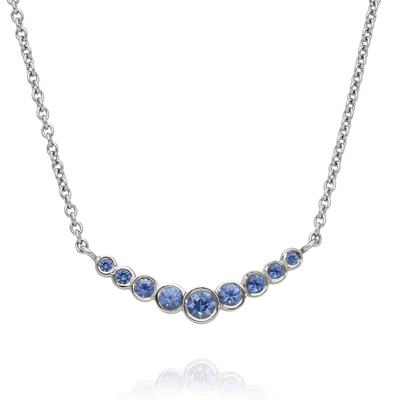 Blue Sapphire Dainty Gold Necklace