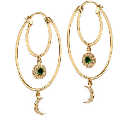 Eye by M Dusk and Dawn Hoop earrings at EC One