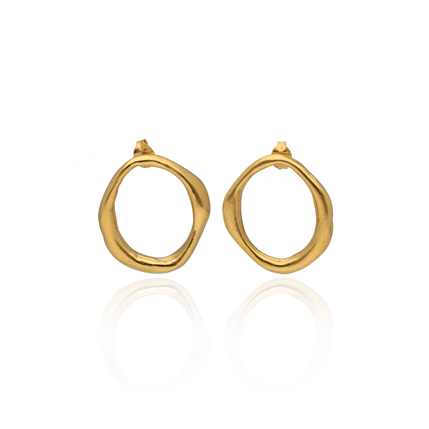 Round Shape Studs Gold Plated