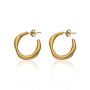Round Shape Hoops Gold Plated
