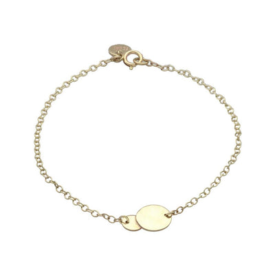 "EC One recycled Gold ""Baby Beat"" 9ct recycled Gold In-lin Double Disc Bracelet"