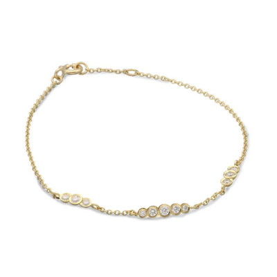 "EC One ""Dainty"" Gold and Diamond Bracelet"