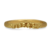 Contour Granule Ring Yellow Gold