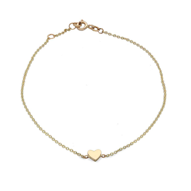 EC One recycled gold Mini Heart Gold Bracelet
