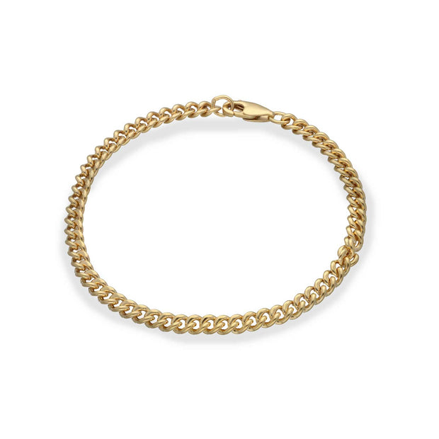 EC One recycled Gold Plated Curb Chain Bracelet
