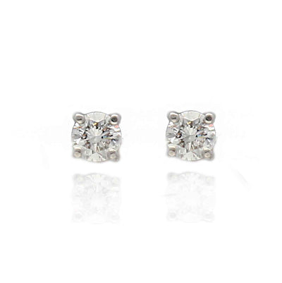 EC One White Gold Diamond Studs 0.26ct