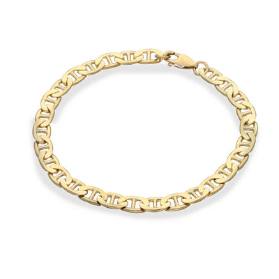 EC One recycled Gold Plated Anchor Chain Bracelet