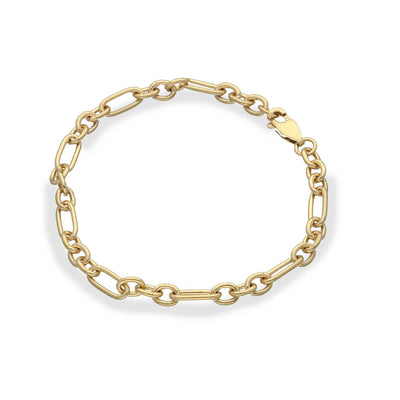 EC One recycled Gold Plated Mixed Link Light Chain Bracelet