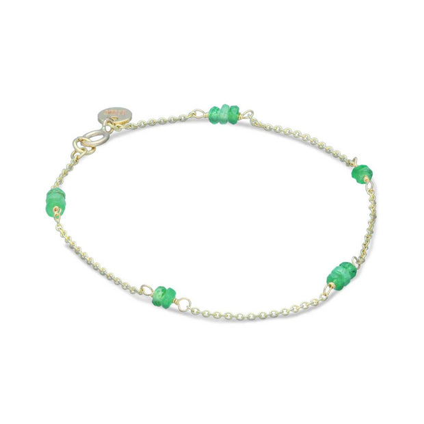 EC One recycled gold and tsavorite bracelet