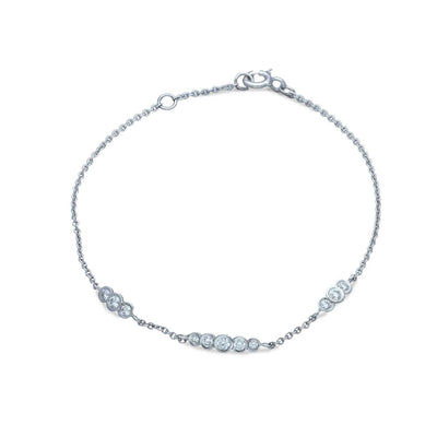 "EC One ""Dainty"" White Gold and Diamond Bracelet"
