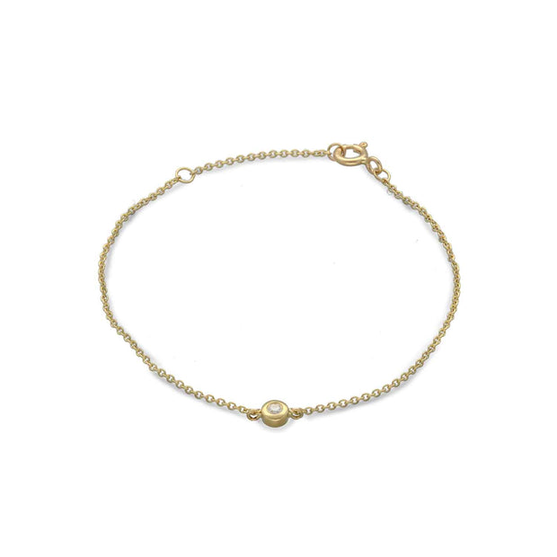 EC One Simple Diamond recycled Yellow Gold Bracelet Yellow Gold