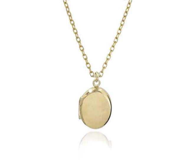 EC One recycled Small Oval Gold Locket Necklace