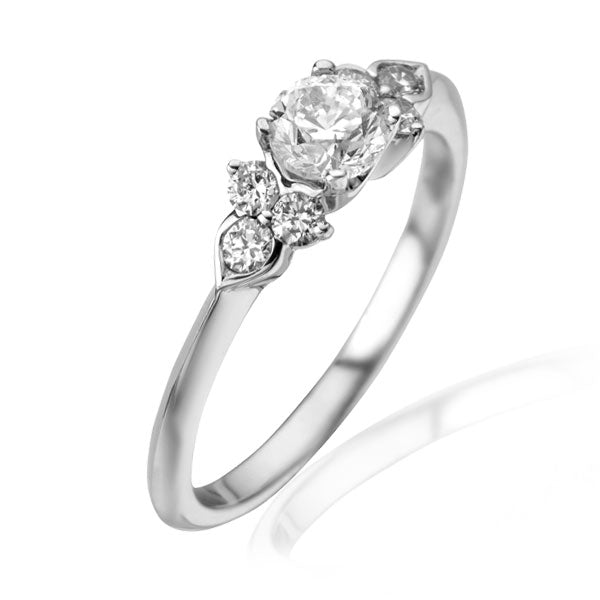 "EC One 0.51ct Diamond ""Hatty"" recycled White Gold Engagement Ring"
